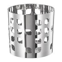 ВАККЕРТ Украшение д/свечи в стеклян стакане, нержавеющ сталь лист, фото 1