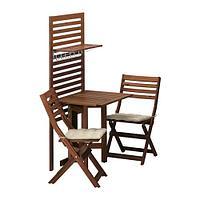 ЭПЛАРО Панель+стол+2 стула, коричневая морилка, Холло бежевый, фото 1