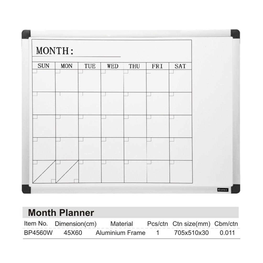 Доска магнитно-маркерная Comix BP4560W Настенная 45*60 см для планирования с полкой для аксессуаров Белый