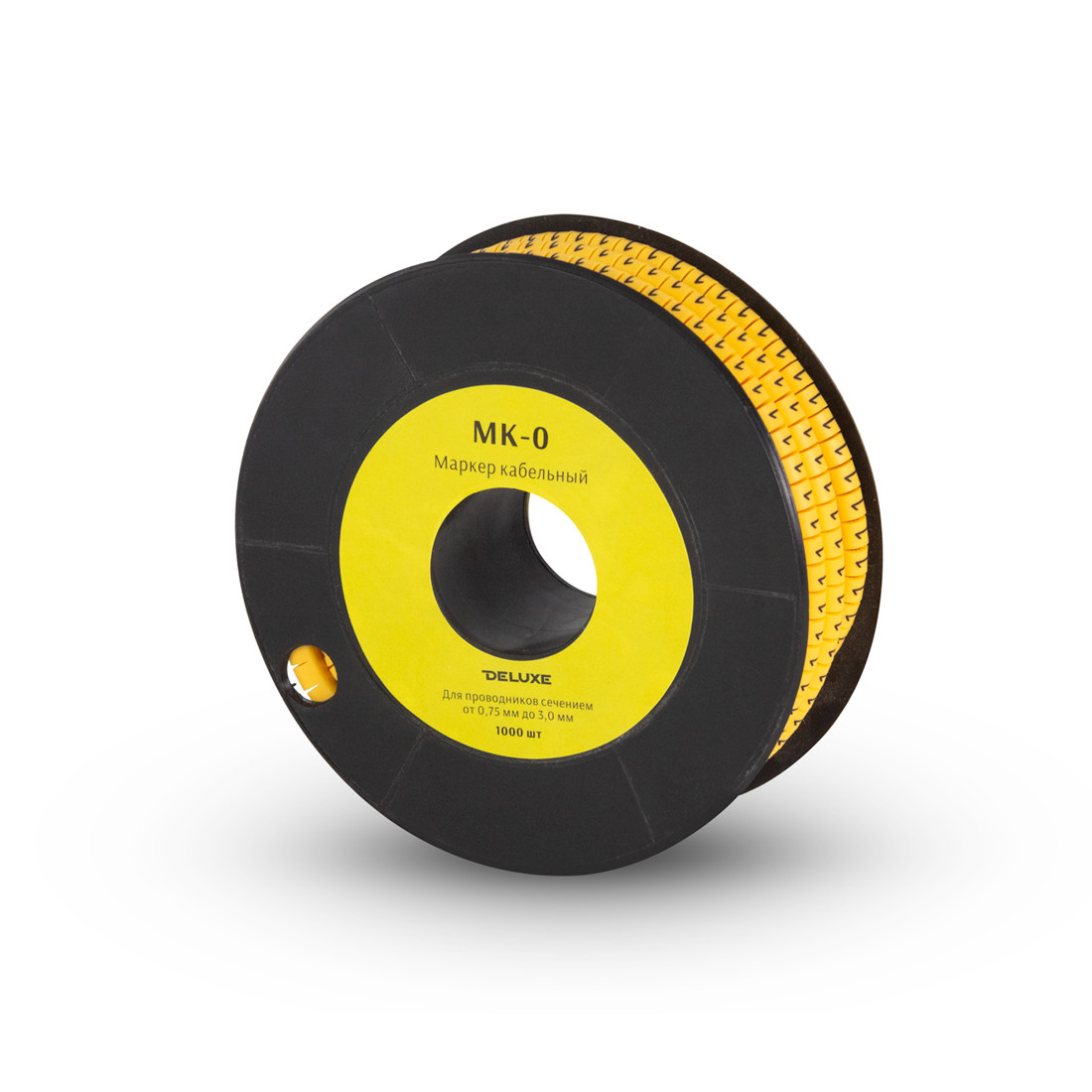 "Маркер кабельный Deluxe МК-0 (075-30 мм) символ ""4"" (1000 шт/упак.)"