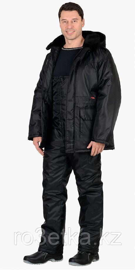 "Костюм для охраника ""Безопасность"" зимний: куртка дл., п/комб. чёрный"