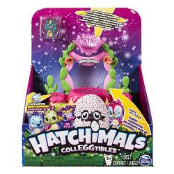 """Hatchimals Игровой набор Хетчималс с коллекционной фигуркой """"Блестящая сцена: Мерцающие пески"""""""