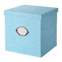 КВАРНВИК Коробка с крышкой, синий, фото 1