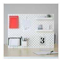 СКОДИС Настенная панель, комбинация, белый, фото 1