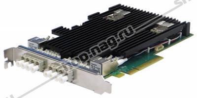 Сетевая карта 4 порта 10GBase-SR Bypass (LC, Intel XL710), Silicom PE310G4BPI71-SR