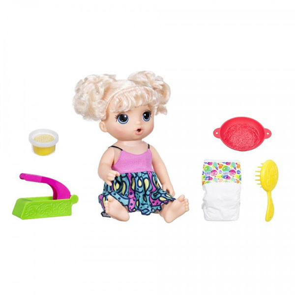 Игрушка кукла Малышка хочет есть