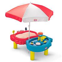 Стол-песочница Little Tikes с зонтом
