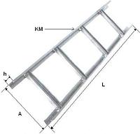 Лестничный лоток KM 10.5.0,7