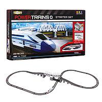 Игрушка Powertrains Премиум набор с мостом и локомотивом + ж/д набор с краном