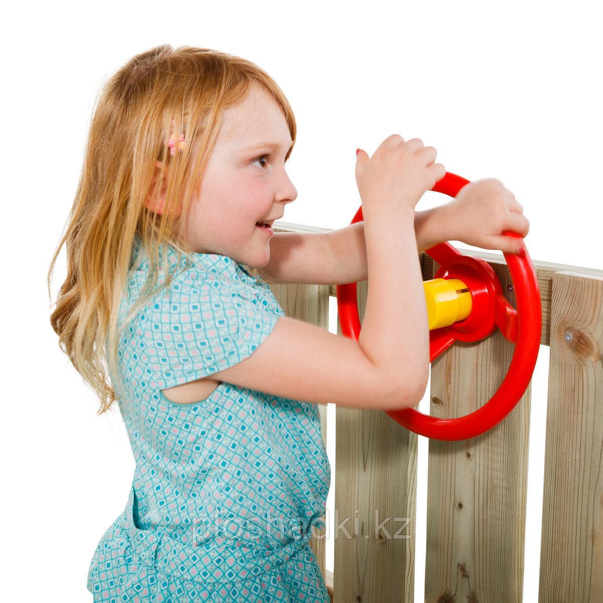 Детский руль из ударопрочного пластика, с гудком