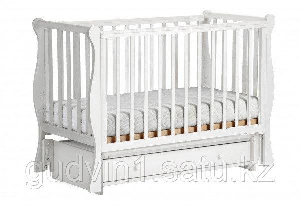 ЛЕЛЬ Кровать детская КУБАНОЧКА-4 маятниковая ваниль БИ 40