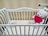 Детская кроватка Корона c продольным маятником БИ 07.10 Белый, фото 3