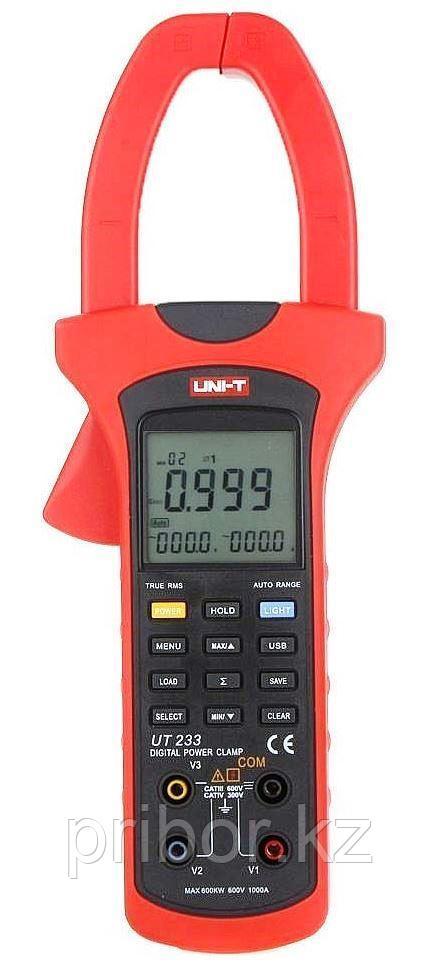 Токоизмерительные клещи True RMS до 1000A (AC) с функцией измерения мощности  UT233. Внесены в реестр СИ РК