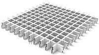 Растровый потолок (Грильято) 100x100 белый матовый