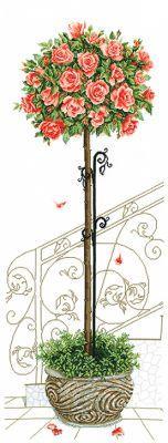 """Набор для вышивания крестом """"Розовое дерево"""""""