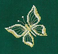 """Набор для вышивания крестом """"Золотые украшения. Бабочка"""""""