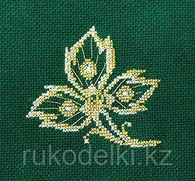 """Набор для вышивания крестом """"Золотые украшения. Лист"""""""