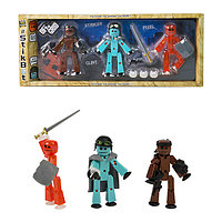 Игрушка 3 фигурки Stikbot Off the Grid, Striker