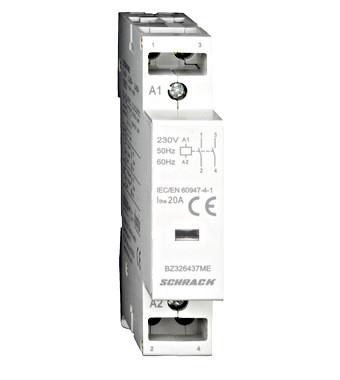 Модульный контактор 20A, 2 НО, 230В переменного тока