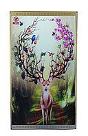 """Инфракрасный электрообогреватель-картина """"Олень с цветочными рогами"""", 500 ват, 100*60 см"""