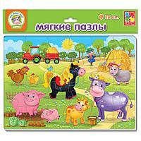 """Пазлы мягкие """"Ферма"""" 24 эл.1102-14"""