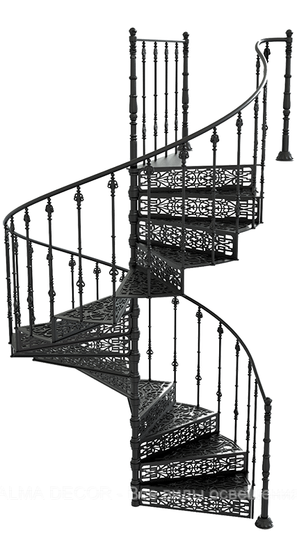 Лестница чугунная Реймс