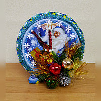 Новогодние часы из конфет, фото 1