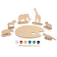 Палитра «Африканские животные» на подст, с набором акрилов красок и кисточ, в пласт 70966/2 , фото 1