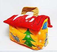 Новогодняя сумка для подарков на молнии.