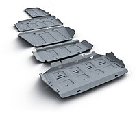 Защита картера + КПП алюминий Toyota  Rav4, V - 2.0; 2.4; с вырезом под глушитель, 2006-2010