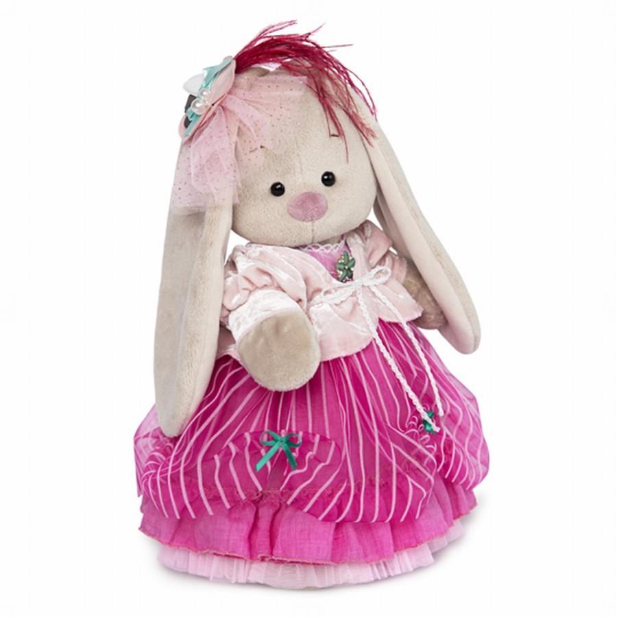"""Мягкая игрушка """"Zaika Mi"""" Зайка Ми барышня в карамельно-розовом (малая)"""