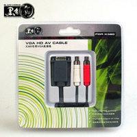 Кабель аудио-видео Xbox 360 VGA AV Cable Black Horns, для подключения к телевизору и монитору