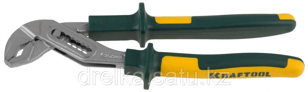 """Клещи """"KRAFT-MAX"""", переставные, Cr-Mo, маслобензост двухкомп рукоятки, шарнирное соединение с повыш износостью"""
