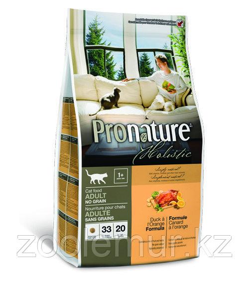 Pronature Holistic Adult беззерновой - для кошек, утка с апельсином 340 гр.