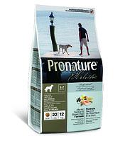 Pronature Holistic Adult All Breeds для здоровья кожи и шерсти собак, лосось с рисом 340 гр., фото 1