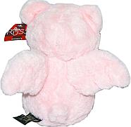 Мишка  20 см белый/розовый с сердцем и крыльями , фото 2