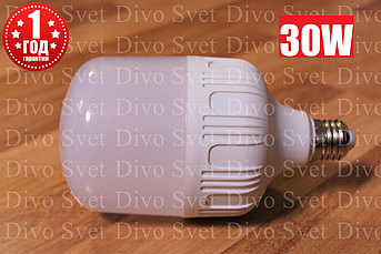 Светодиодная промышленная лампа E27 - E40 30 ватт. Замена ламп ДРЛ, ДНАТ. Led лампа E27-E40 30 w.