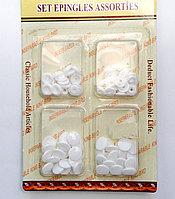 Пластиковые упаковочные заклепки, белые