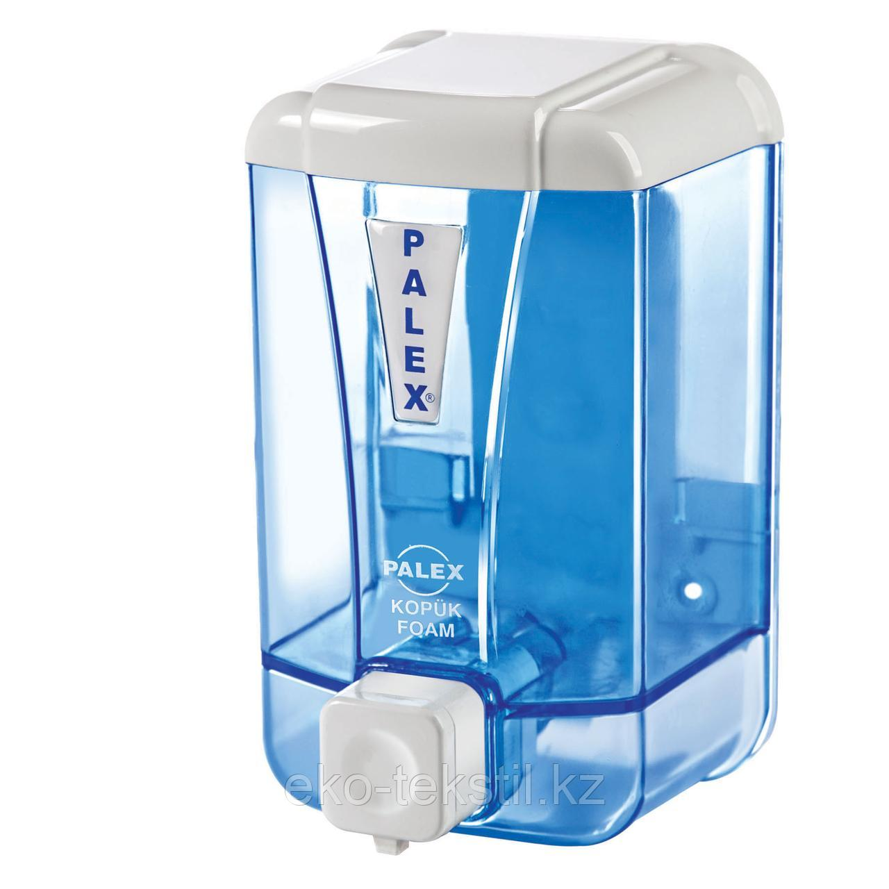 "Диспенсер для пенки для мытья рук ""прозрачный синий"" 500 мл."