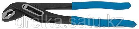 Клещи переставные, Cr-V сталь, коробчатый шарнир, оксидированное покрытие с полировкой, 240мм, ЗУБР, фото 2