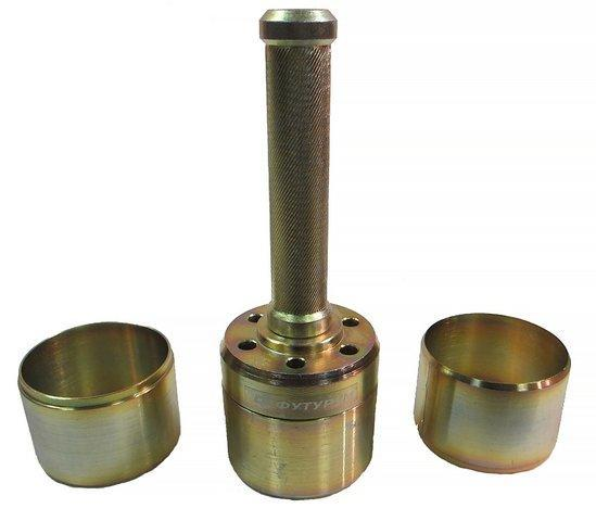Комплект колец  для отбора грунта ПГ-200 из 3 колец, крышки, ручки-наковальни
