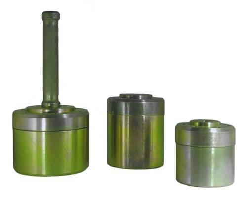 Комплект колец  для отбора грунта КПГ-02 для отбора проб грунта (ГОСТ 5180) из 3 колец (200,400,500), крышки