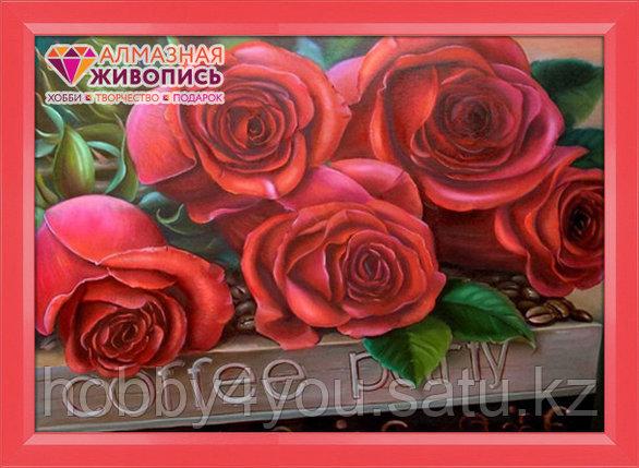 """Картина стразами на холсте """"Прекрасные розы"""", 35*50см, фото 2"""