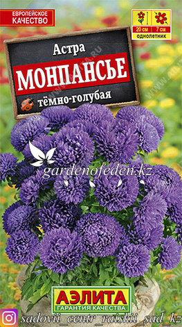 """Семена астры Аэлита """"Монпансье темно-голубая""""., фото 2"""