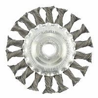 Щетка для УШМ 100 мм, М14, плоская, крученая проволока 0,5 мм. MATRIX
