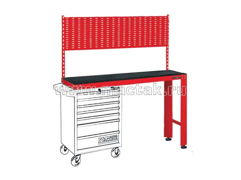 Верстак инструментальный под тележку, задняя панель, красный МАСТАК 542-11500R