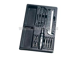 Набор разрезных ключей, ударная отвертка и съемник масляных фильтров, ложемент, 14 предметов KING TONY