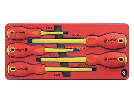 Набор диэлектрических отвёрток, ложемент, 5 предметов МАСТАК 5-4005E