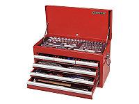 Набор инструментов универсальный, выдвижной ящик, 219 предметов KING TONY 911-000CR