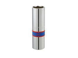 """Головка свечная шестигранная 1/2"""", 16 мм, L = 70 мм, резиновый фиксатор KING TONY 463516R"""